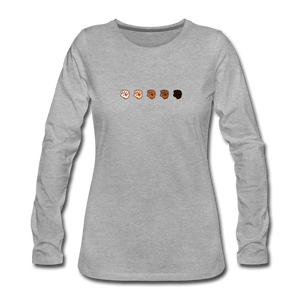 U Fist Women's Premium Long Sleeve T-Shirt - heather gray