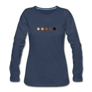 U Fist Women's Premium Long Sleeve T-Shirt - navy