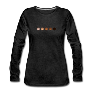 U Fist Women's Premium Long Sleeve T-Shirt - charcoal gray