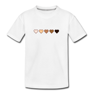 U Hearts Kids' Premium T-Shirt - white