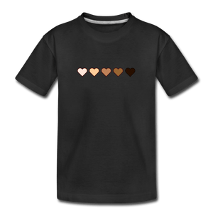U Hearts Kids' Premium T-Shirt - black