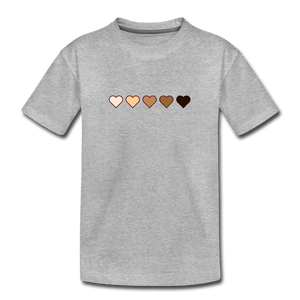 U Hearts Kids' Premium T-Shirt - heather gray