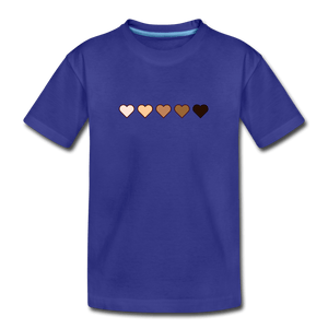 U Hearts Kids' Premium T-Shirt - royal blue