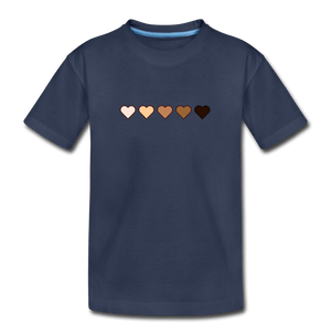 U Hearts Kids' Premium T-Shirt - navy
