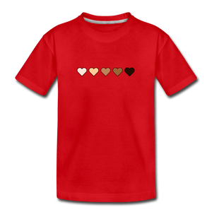 U Hearts Kids' Premium T-Shirt - red