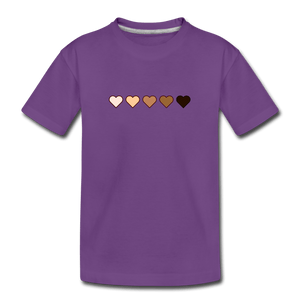 U Hearts Kids' Premium T-Shirt - purple