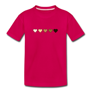 U Hearts Kids' Premium T-Shirt - dark pink