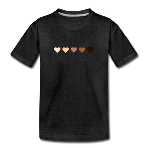 U Hearts Kids' Premium T-Shirt - charcoal gray