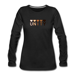 Unity Hearts Women's Premium Long Sleeve T-Shirt - black
