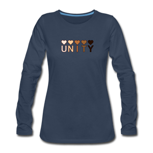 Unity Hearts Women's Premium Long Sleeve T-Shirt - navy