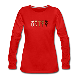 Unity Hearts Women's Premium Long Sleeve T-Shirt - red