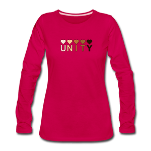 Unity Hearts Women's Premium Long Sleeve T-Shirt - dark pink