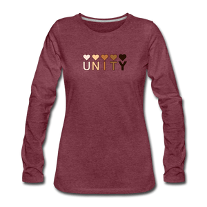 Unity Hearts Women's Premium Long Sleeve T-Shirt - heather burgundy
