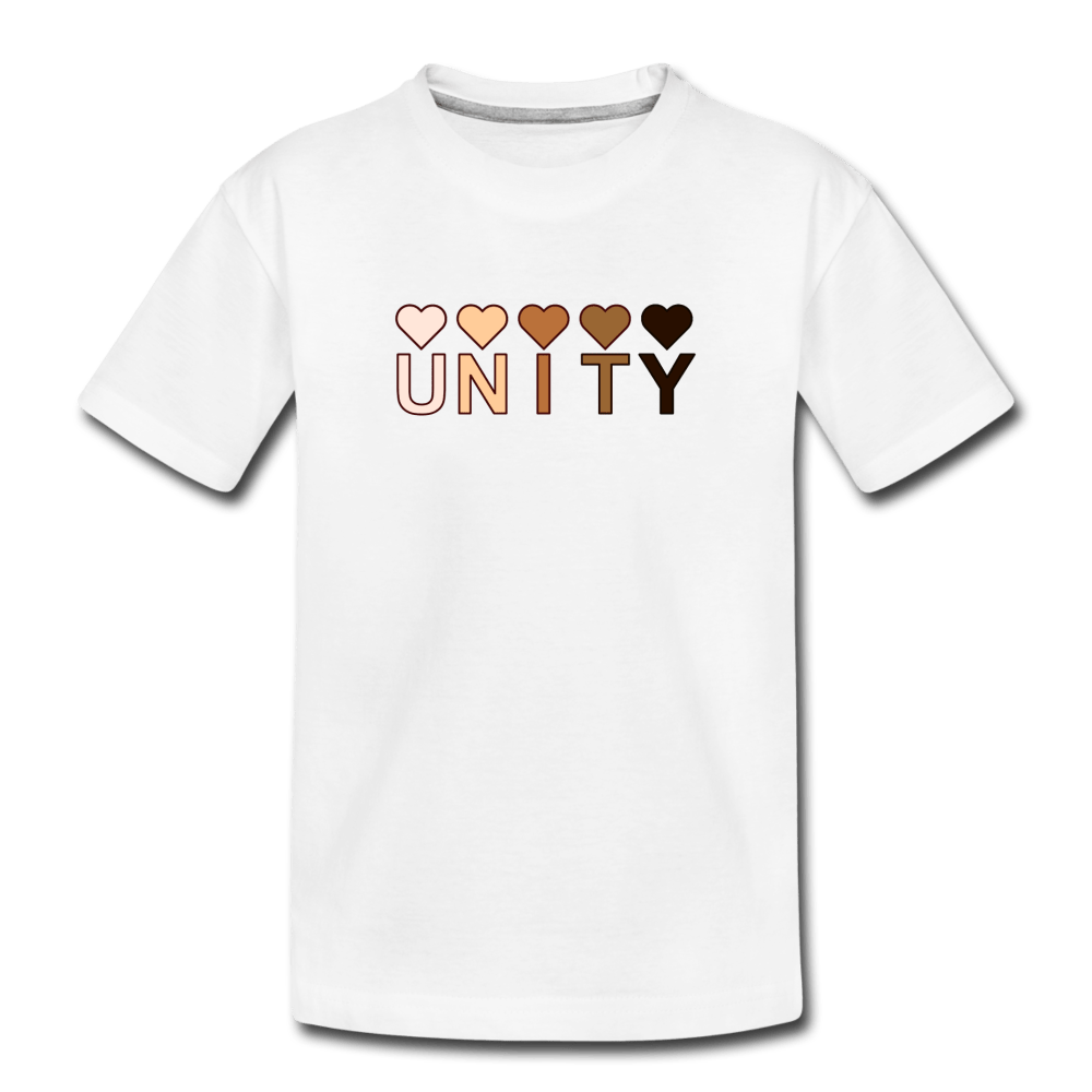 Unity Hearts Kids' Premium T-Shirt - white