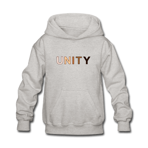 Unity Kids' Hoodie - heather gray