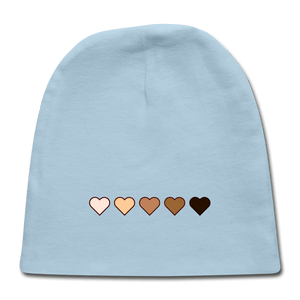 U Hearts Baby Cap - light blue