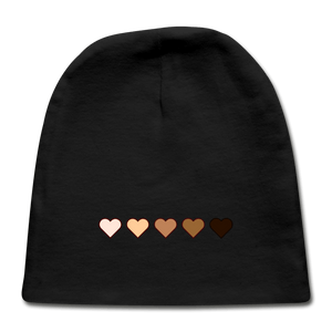 U Hearts Baby Cap - black