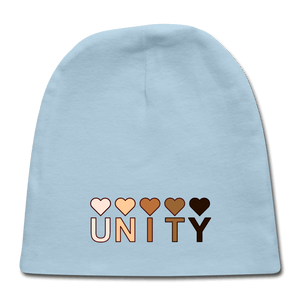 Unity Hearts Baby Cap - light blue