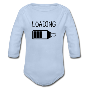 Loading Organic Long Sleeve Baby Onesie - sky