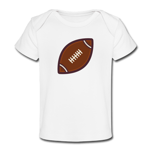 Football Organic Baby T-Shirt - white