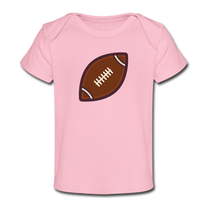 Football Organic Baby T-Shirt - light pink