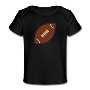 Football Organic Baby T-Shirt - black