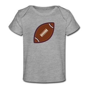 Football Organic Baby T-Shirt - heather gray