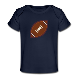 Football Organic Baby T-Shirt - dark navy