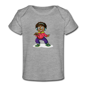 Headphone Kid Organic Baby T-Shirt - heather gray