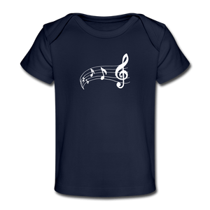 Music Note Baby Organic T-Shirt - dark navy