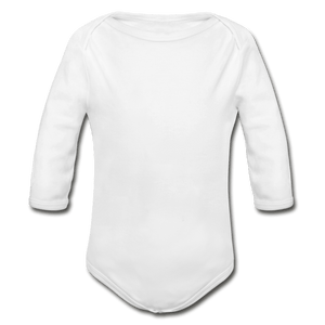 Organic Long Sleeve Baby Onesie - white