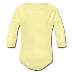 Organic Long Sleeve Baby Onesie - washed yellow