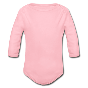 Organic Long Sleeve Baby Onesie - light pink