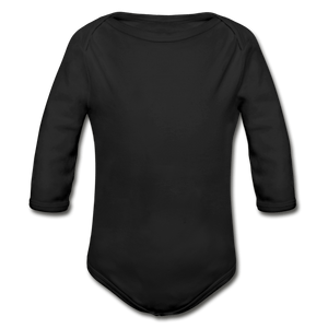 Organic Long Sleeve Baby Onesie - black