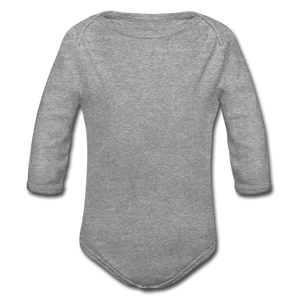 Organic Long Sleeve Baby Onesie - heather gray