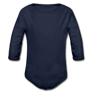 Organic Long Sleeve Baby Onesie - dark navy