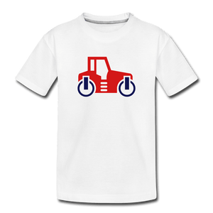 Red Car Toddler Premium T-Shirt - white