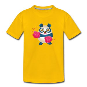 Cheer Panda Toddler Premium T-Shirt - sun yellow