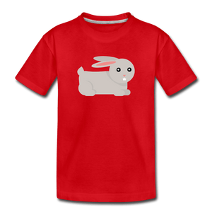 Bunny Toddler Premium T-Shirt - red