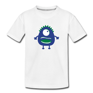 Blue Moster Toddler Premium T-Shirt - white