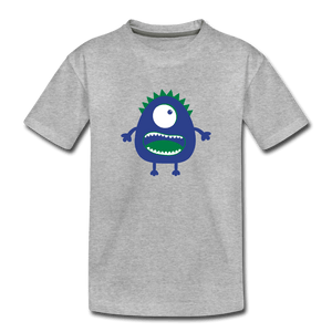 Blue Moster Toddler Premium T-Shirt - heather gray
