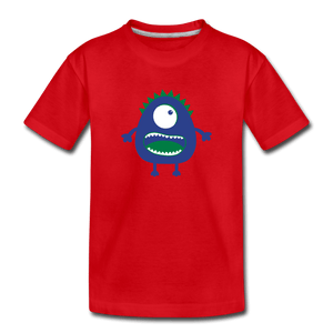 Blue Moster Toddler Premium T-Shirt - red