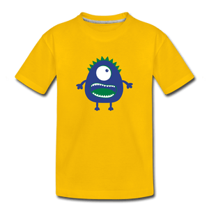 Blue Moster Toddler Premium T-Shirt - sun yellow