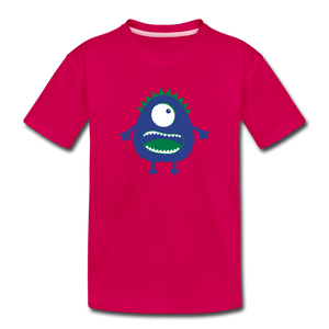 Blue Moster Toddler Premium T-Shirt - dark pink
