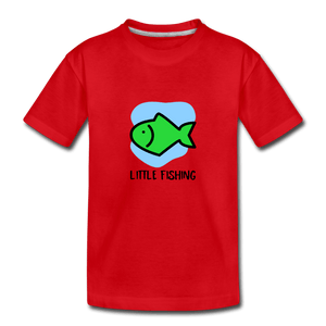 Fishing Toddler Premium T-Shirt - red