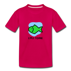 Fishing Toddler Premium T-Shirt - dark pink