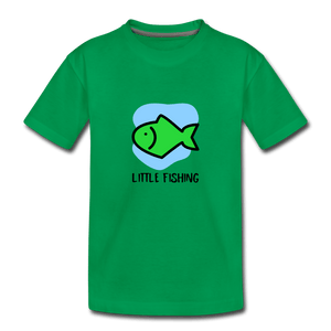 Fishing Toddler Premium T-Shirt - kelly green