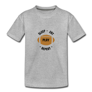Sleep Eat Play Toddler Premium T-Shirt - heather gray