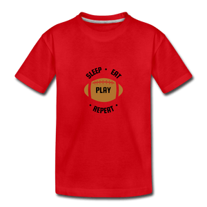 Sleep Eat Play Toddler Premium T-Shirt - red