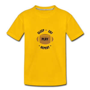Sleep Eat Play Toddler Premium T-Shirt - sun yellow